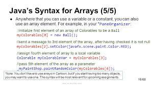 0 68 andries van dam 20 15 arrays csci0150 0 1 2 3 4 5 6