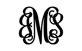 letter monogram metal boutiques 3 letter monogram monograms let us personalize