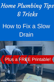 How To Fix A Slow Bathroom Sink Drain Home Plumbing How To Fix A Slow Drain U2014 F E Moran