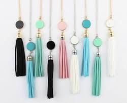 monogram acrylic necklace monogram acrylic blank disc chain pendant tassel necklace for