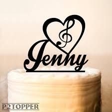 music cake topper note cake topper music birthday cake