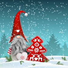 scandinavian traditional gnome tomte with other