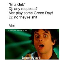 Halloween Party Meme - this was me at my second cousins halloween party green day