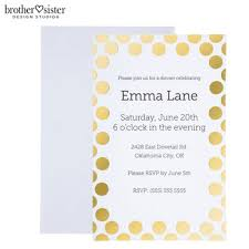 polka dot invitations gold foil polka dot invitations hobby lobby 1362797