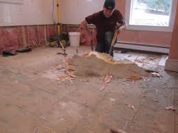 Underlay For Laminate On Concrete Floor How To Remove A Tile Floor And Underlayment A Concord Carpenter