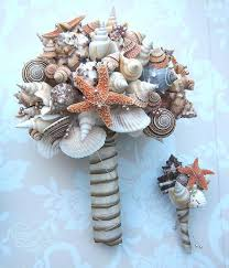 wedding bouquets with seashells wedding bridal bouquet and bridesmaid bouquets sugar
