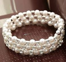 prom accessories uk three rows faux pearls bracelets bridal accessories