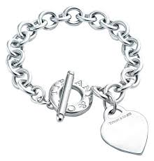 tiffany silver bracelet with heart images Tiffany co toggle with heart charm 7 quot bracelet tradesy jpg