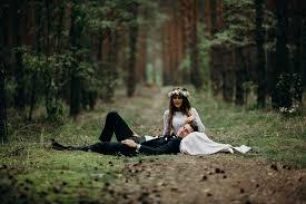 le si e agata i grzegorz sesja ślubna w lesie
