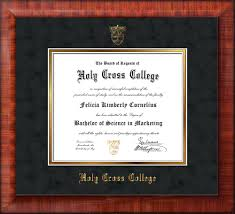 college diploma frame holy cross college diploma frame mezzo gloss hcc seal black suede