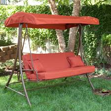Kmart Canopies by Coral Coast Siesta 3 Person Canopy Swing Bed Terra Cotta Hayneedle