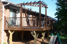 Pergola Corner Designs by Raised Deck With Corner Pergola Of 14 Captivating Corner Pergola