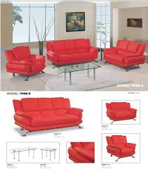 Red Sofa Furniture Global Furniture U9908 Red Leather Sofa Color 7021