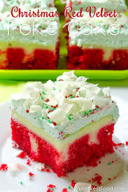 christmas red velvet poke cake recipe from yummiest food cookbook