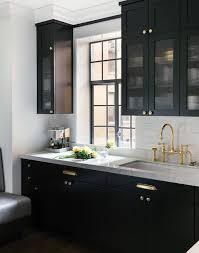 Black Kitchen Cabinets White Kitchen Cabinets With Brass Hardware Design Ideas