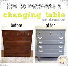 Dresser Changing Table How To Renovate A Changing Table Or Dresser Best Nest