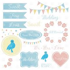 Borders For Wedding Invitation Cards Cute Wedding Invitation Elements Frames And Garlands Borders