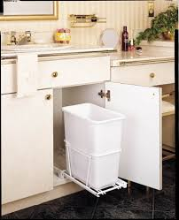 under sink trash pull out amazon com rev a shelf 20qt pull out waste bin white home kitchen