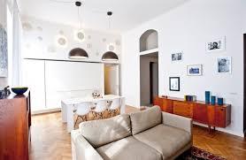 soggiorno e sala da pranzo trucchi scenici in un piccolo open space milanese gallery