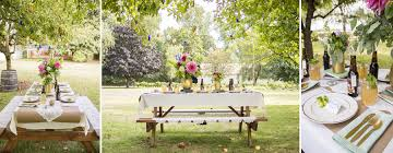 picnic table rentals garden picnic table setting ae creative