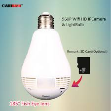 light bulb security system camwon fisheye 360 degree panoramic wifi p2p network ip camera bulb