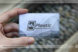 Clear Business Cards Clear Plastic Business Cards My Plastic Business Card