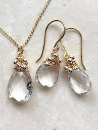 quartz rock necklace images Rock quartz necklace in 14k filled gold honey and elder JPG
