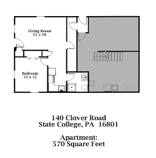 140 b clover road 1 bedroom apt state college pa 16801 park