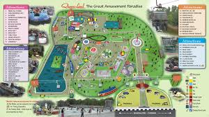 Map Of Queensland Queensland Amusement Park Theme Park Rides Thrilling Games