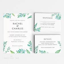 rã ponse mariage invitation de mariage de feuillage forestier imprimable numérique