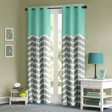 Aqua And Grey Curtains The Window Panel Makes Any Bedroom And Inviting The