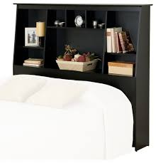 prepac slant back tall full queen bookcase headboard