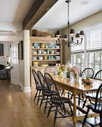 Farmhouse Table Centerpiece Dining Room Rustic With Arched Doorway 30 Delightful Dining Room Hutches And China Cabinets