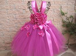 birthday dress fuchsia flowers tutu dress birthday dress baby 3 24