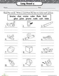 best solutions of long u worksheets for kindergarten for your