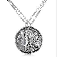 necklace pendant coin images Custom deer head hunting buck doe coin pendant necklace pluto99 jpg