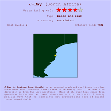j bay south africa map j bay surf forecast and surf reports eastern cape s south africa