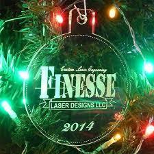 custom business logo christmas ornament 3
