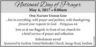 methodist prayer national day of prayer sardinia united methodist church sardinia ny
