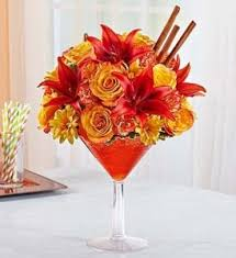 Martini Glass Vase Flower Arrangement Welcoming Autumn With A New Fall Flower Collection U2013 Veldkamps