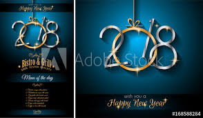happy new year invitation 2018 happy new year background for your seasonal flyers and