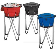 Patio Ice Bucket With Stand by Amazon Com Collapsible Barrel Cooler With Stand Blue Office