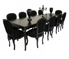 Beautiful Large Black Dining Room Table Photos Room Design Ideas - Dining room table sets seats 10