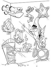finding nemo fish tank coloring page netart