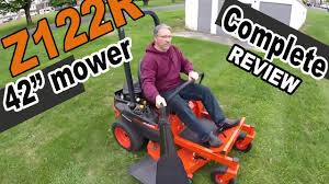 kubota zero turn mower review z122r 42 youtube