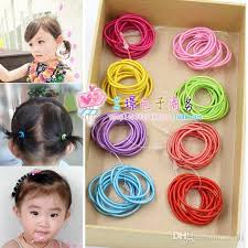 baby hair ties 2017 mixed color baby girl kids tiny hair bands elastic ties