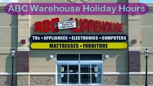 abc warehouse hours dates opening closing time