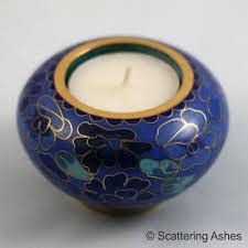 memorial tea light candle holder cloisonné memorial candle holder spring blue scattering ashes