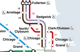 cta line map this map shows the walking distance between cta l stations