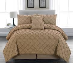 California King Comforters Sets 6 Piece Melia Taupe Comforter Set